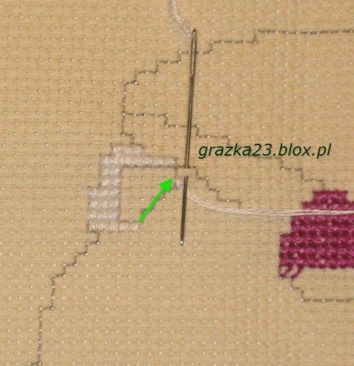 ominięcie fragmentu w hafcie #PodstawyHaftuKrzyżykowego #NaukaHaftu #HaftKrzyzykowy