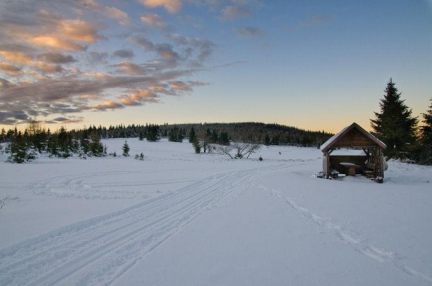 Polana Izerska, I rajd klimatyczny. #góry #zima #śnieg #zachód #izery