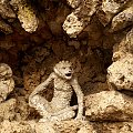 #figura #muszle #ogród #Rokokogarten #małpa