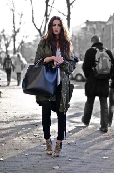 Torba damska Shopper Bag dziewczyna z torebką