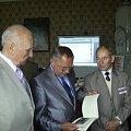 W kuluarach od lewej ; J Uzdel J Ornatowski, Zbysław Szymczak .. #Militaria #Konferencja #Osoby