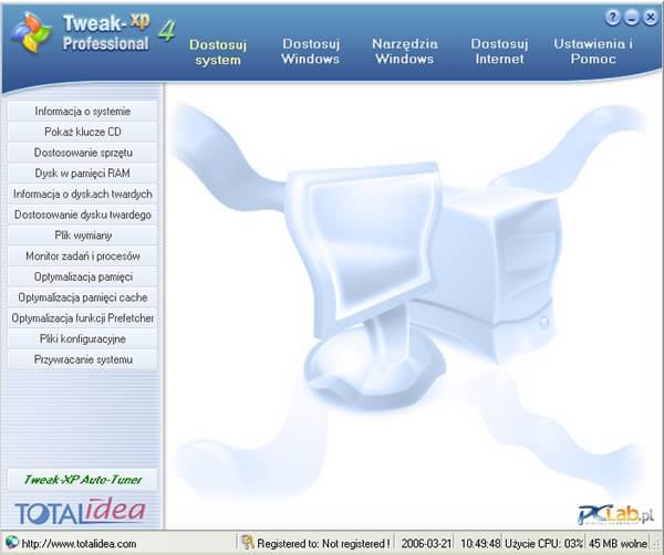 На данной странице Вы можете скачать бесплатно Tweak-XP Pro v4: твикер для Windows
