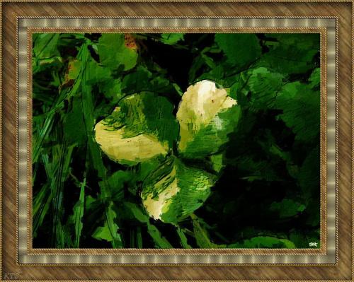 Pomaluj mój świat...moja ulubiona koniczynka, nawet nie czterolistna #koniczyna #namalowane #grafika #obraz