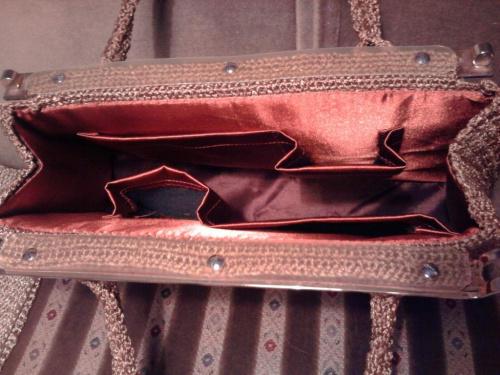 wnętrze torebki #szydełkowanie #torebka