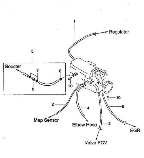 lanos podciśnienia 8V