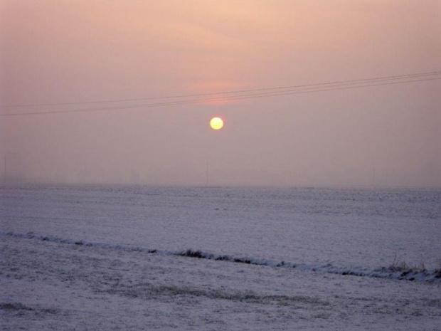 Zachód słońca :D #zima #zachod #ZachodSlonca #slonce #KowalewoOpactwo