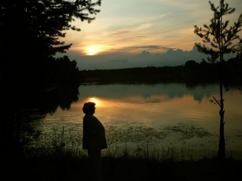 wiosna - lato - jesień ... na wszystko jest właściwa pora #zachód #nad_jeziorem