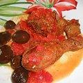 Pałki w czerwonym sosie #mięso #warzywa #obiad