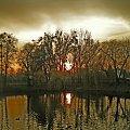 #jezioro #ZachódSłońca #wieczór #impresja #niebo