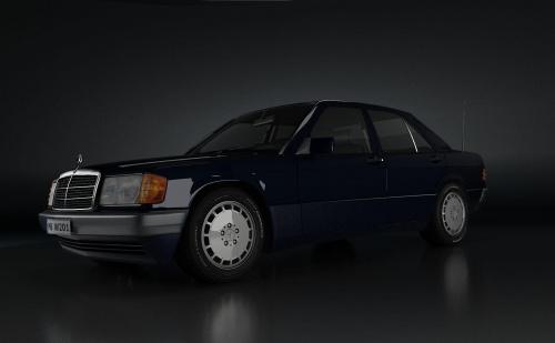 Grafika mojego autorstwa #Mercedes #w201 #Model3D #Render
