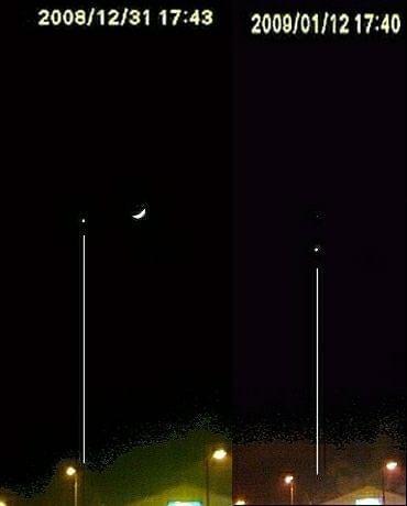 Wenus na niebie w odstępie 12 dni. (2 zdjęcia połączone) #Wenus #księżyc