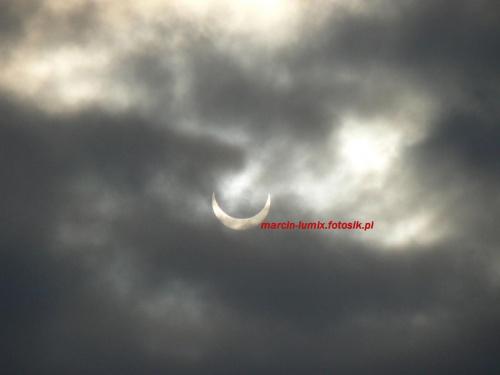 Zaćmienie słońca 04.01.2011 #ZaćmienieSłońca #słońce #niebo #zjawisko #księżyc