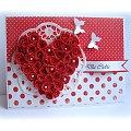 #Kartka #życzenia #czerwień #miłość #serce #quilling