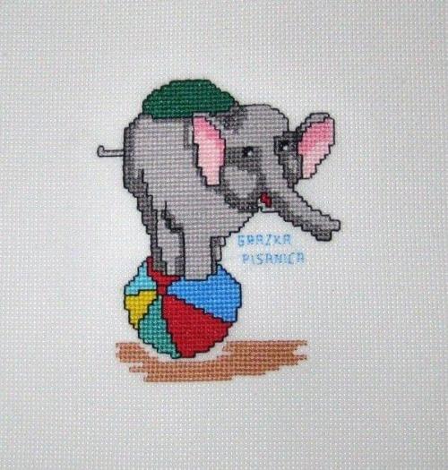 k. 1055 dla Arka #haft #słoń
