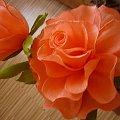 wysoki kwiat w kolorze orange #KwiatyZBibuły