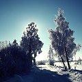 #widok #krajobraz #zima #śnieg #zimno #drzewa #szadź #mróz #przyroda