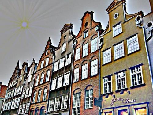 Gdańsk-kamieniczki Starego Miasta #inaczej #przeróbki #Gdańsk #StareMiasto #kamieniczki