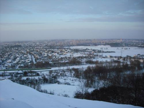 widok Tarnowa z góry św.Marcina #zima