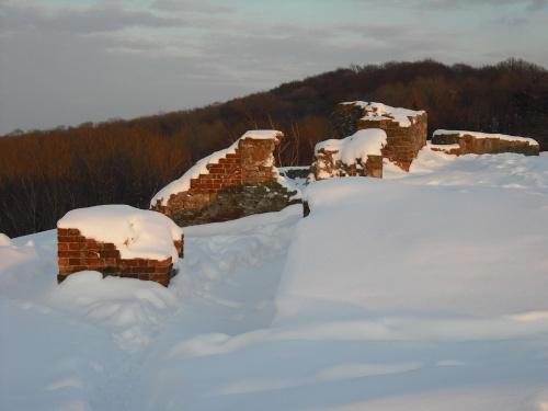 ruiny zamku na górze św.Marcina/Tarnów/ #zima