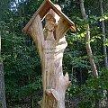 Ozdoba wykonana z drewna sotjąca w lesie w pobliżu Międzychodu #ozdoba